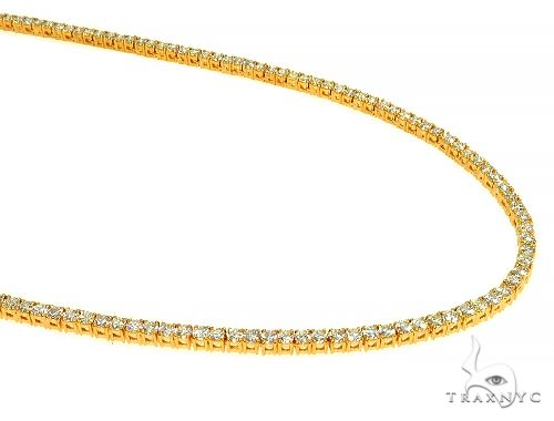 TraxNYC Signature 4 Pointers 14K Yellow Gold Diamond Tennis Chain 66010 Diamond