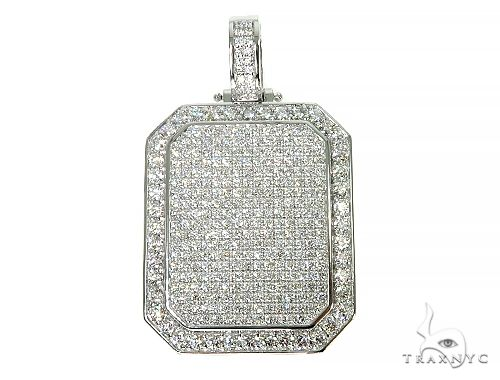 Big Size Custom Diamond Charm Pendant 66013 Metal