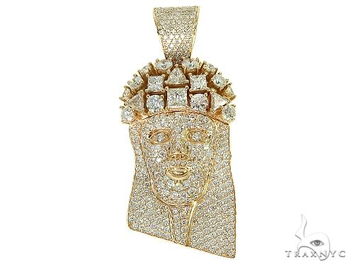 Custom Made Jesus Head With Big Diamonds on The Crown 66014 Style