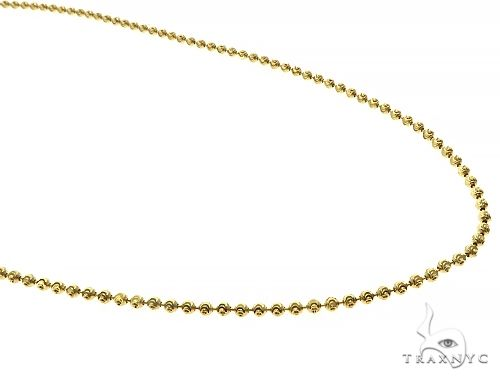 14K Yellow Gold Moon Cut Link Chain 22 Inches 2mm 7.5 Grams 66032 Gold