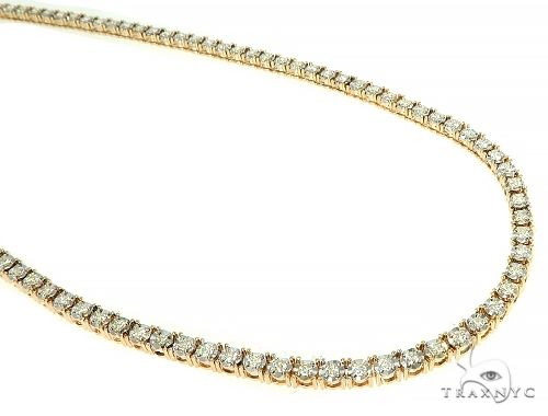 Illusion Diamond Tennis Chain 24 Inches 3mm 4.26ct 30.60 Grams Diamond