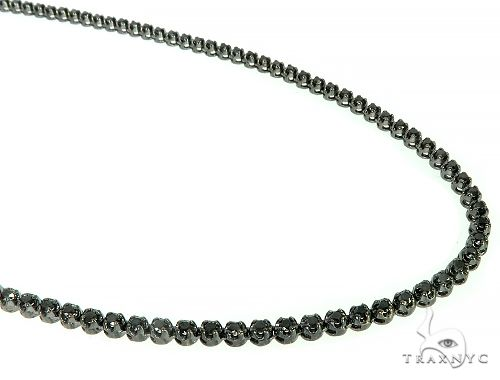 Black Gold Black Diamond Chain 27 Inches 4mm 10.34ct 49.30Grams 66041 Black Diamond Chains
