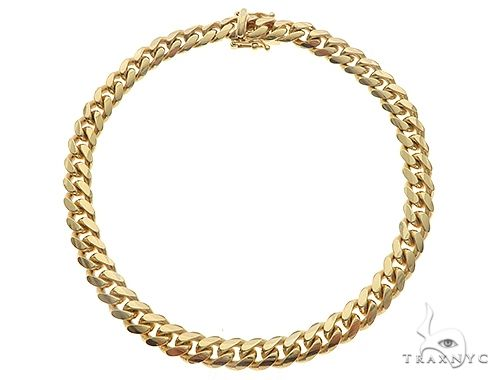 14K Yellow Gold Solid Miami Cuban Link Bracelet 8 Inches 6 mm 27.2 Grams 66042 Gold
