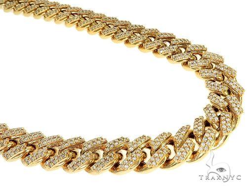 2Row Miami Cuban Link Diamond Chain 22 inches 15mm 21.51ct 187.80 Grams Diamond