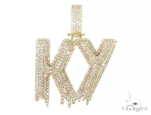 Custom Made KY Drip Diamond Pendant 66062 Metal