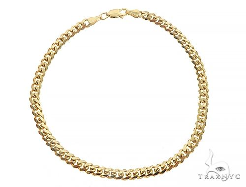 14K Yellow Gold Solid Miami Cuban Link Bracelet 8.75 Inches 6mm 25 Grams 66065 Gold