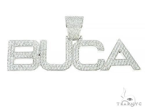 Custom Made Diamond Name Pendant 66072 Style
