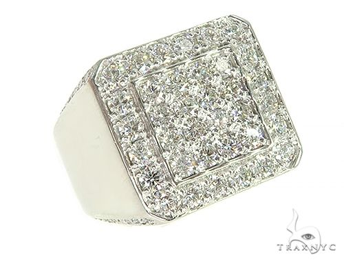 14K White Gold Diamond TraxNYC Ring 66093 Stone