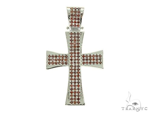 Masterpiece Cross With Red Diamonds 66095 Diamond