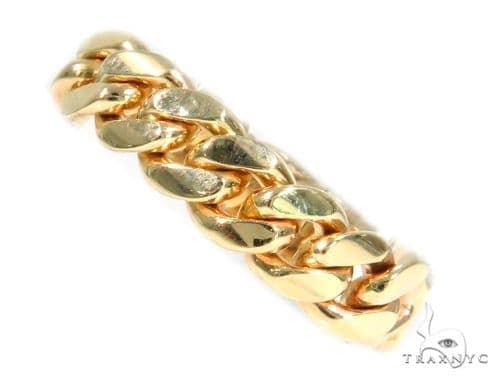 10k Gold 7mm Miami Cuban Link Ring 66097 Metal