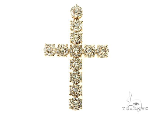 14K Yellow Gold Diamond Cross Pendant 66100 Diamond