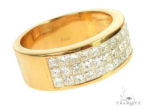 3 Row Invisible Diamond Ring 66110 Stone
