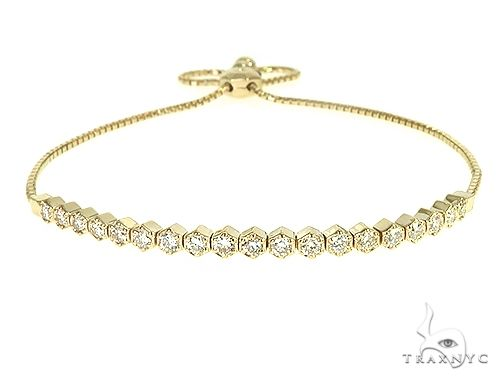 14K Yellow Gold Diamond Bolo Bracelet 66126 Diamond