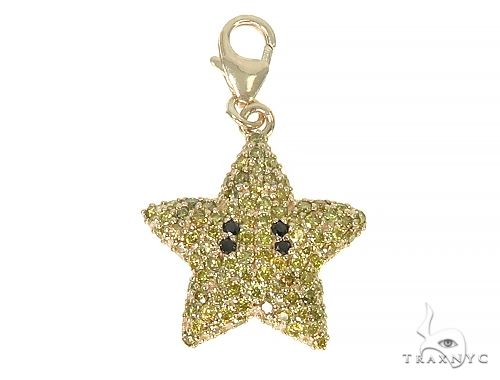 Mini Mario Star Charm On Lobster Clasp 66130 Stone