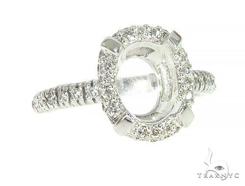14K White Gold Diamond Semi Mount Engagement Ring 66145 Engagement
