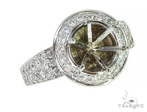 14K White Gold Diamond Semi Mount Engagement Ring 66147 Anniversary/Fashion