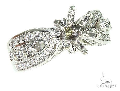 14K White Gold Diamond Semi Mount Engagement Ring 66148 Engagement