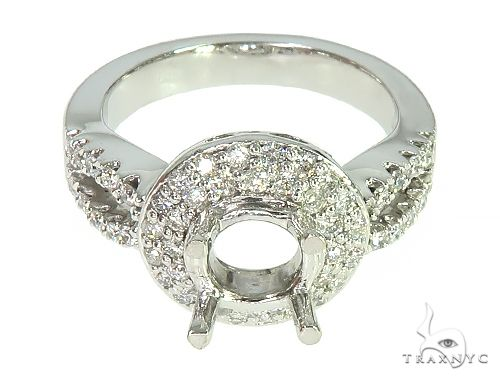 14K White Gold Diamond Semi Mount Engagement Ring 66149 Engagement