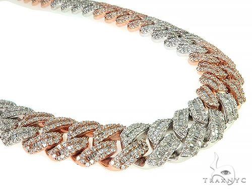 14K TwoTone Baguette Diamond Cuban Link Chain 379.70 Grams 22 Inches 18.5mm 66155 Diamond