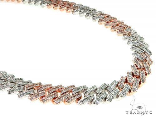 14K TwoTone Baguette Diamond Cuban Link Chain 275.6 Grams 22 Inches 14mm 66156 Diamond