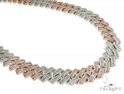 14K TwoTone Baguette Diamond Cuban Link Chain 398.4 Grams 22 Inches 18mm 66158 Diamond