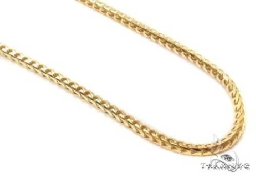 10K Yellow Gold Solid Franco Link Chain 22 Inches 2mm 9.29 Grams 65429 Gold