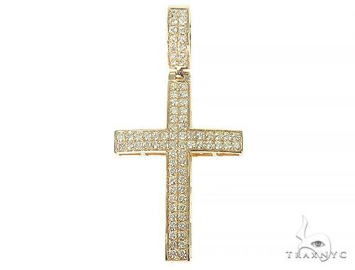 14K Gold Diamond Cross 66176 Diamond
