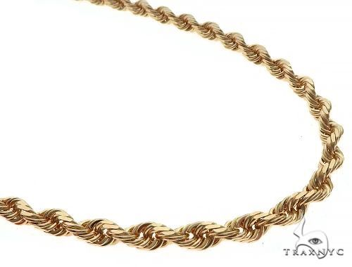 Solid Rope Link Chain 14K Yellow Gold 26 Inches 5.7mm 66.7 Grams 66181 Gold