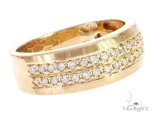 14k Yellow Gold Diamond Wedding Band 66184 Stone