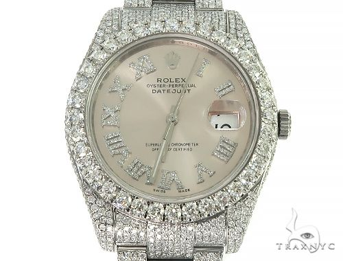 DateJust Oyster Perpetual Diamond Rolex Watch 41mm Stainless Steel