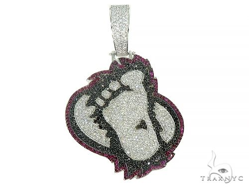 Custom Made Gorilla FootPrint Pendant 66203 Metal