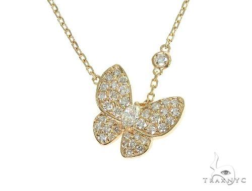 14K Yellow Gold Diamond Necklace 66215 Diamond