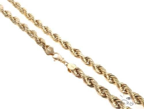10K Yellow Gold Rope Chain 30 Inches 10mm 43.90 Grams 66220 Gold