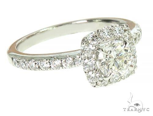 18K White Gold Engagement Diamond Ring 66232 Engagement