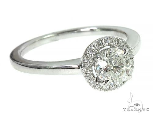 18K White Gold Engagement Diamond Ring 66233 Engagement