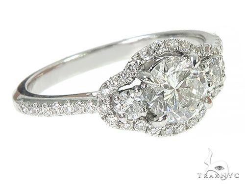 18K White Gold Engagement Diamond Ring 66234 Engagement