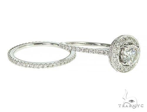 18K White Gold Engagement Diamond Ring Set 66235 Engagement