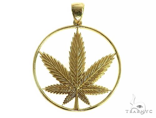 Custom Made Weed Pendant 66236 Metal