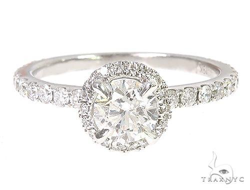 18K White Gold Engagement Diamond Ring 66248 Engagement