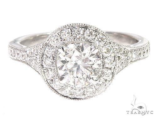 18K White Gold Engagement Diamond Ring 66249 Engagement