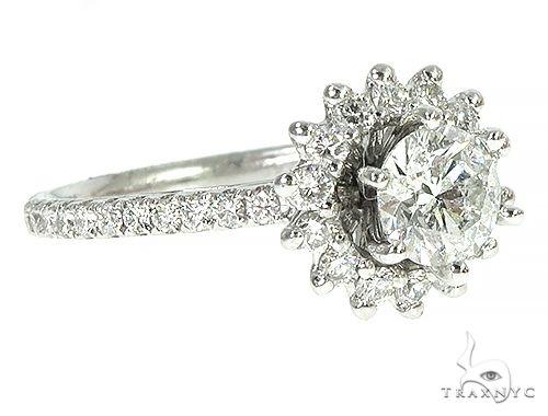 18K White Gold Engagement Diamond Ring 66247 Engagement
