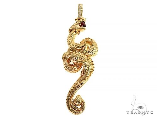 Fully 3D Dragon Pendant 66253 Metal