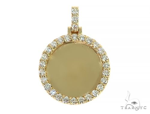 14K Yellow Gold Sweet Memories Collection Mini Diamond Photo Pendant 66260 Style