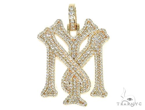 Custom Made 'YM' Mini Diamond Pendant 66266 Metal