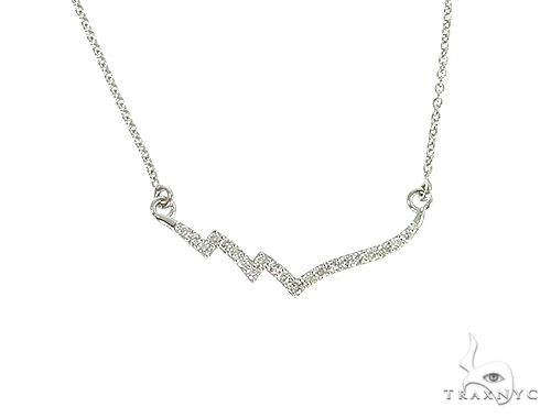 14K White Gold Diamond Necklace 66268 Diamond