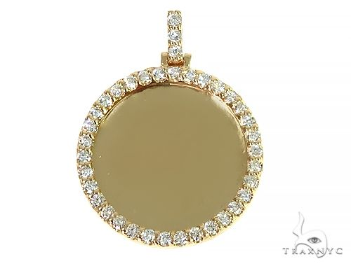 14K Yellow Gold Sweet Memories Collection Medium Diamond Photo Pendant 66278 Style