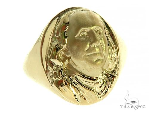 Benjamin Franklin Gold Ring 49780 Metal