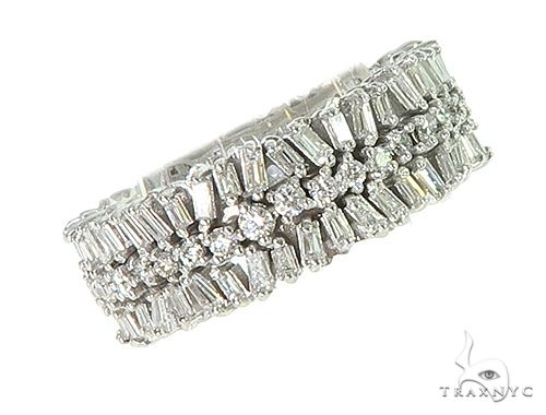 Baguette and Round Diamond Eternity Ring 66307 Anniversary/Fashion