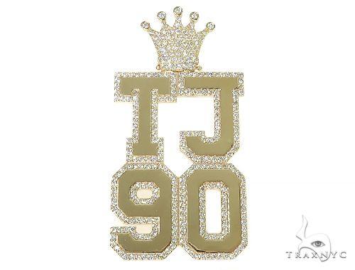 Custom Made TJ90 Diamond Crown Pendant Metal