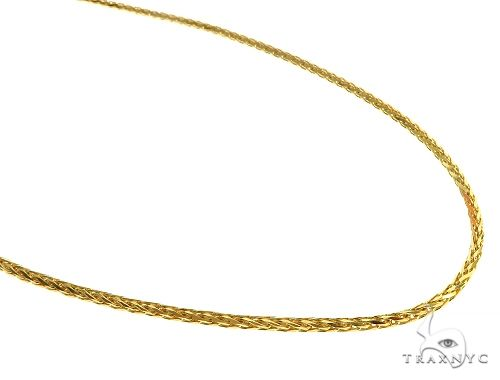 Solid Wheat Link Chain 14K Yellow Gold 22 Inches 2mm 14.6 Grams 66314 Gold